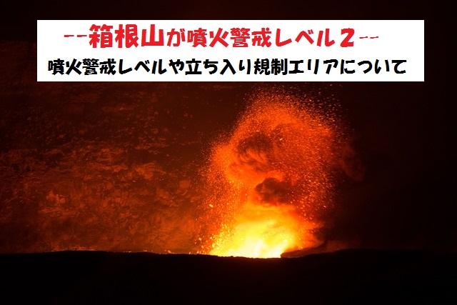 噴火警戒レベルについて