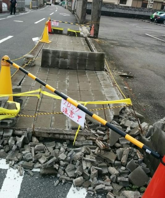 ブロック塀 地震