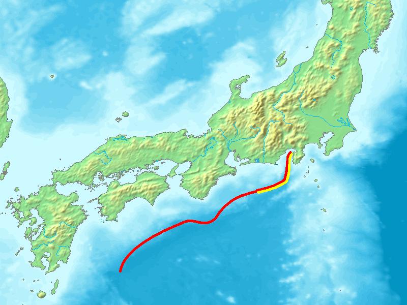 南海トラフ長さ