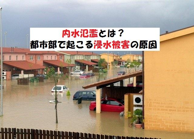 内水氾濫とは